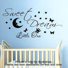 Sweet Dream Little One Moon Star Wall Quote Vinyl Stickers Etsy