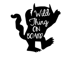Wild Thing On Board Car Decal Sticker Etsy