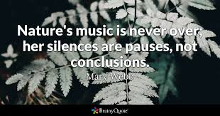 mary webb nature s music is never over her silences are