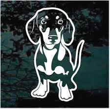 Dachshund Car Decals Stickers Decal Junky