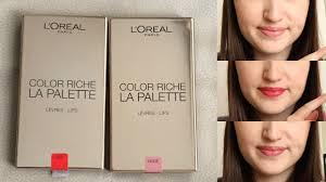 l oréal paris color riche palettes