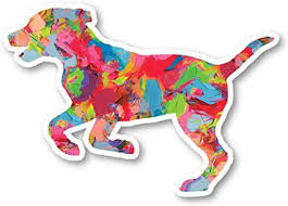 Amazon Com Dog Running Sticker Watercolor Paint Stickers Laptop Stickers 2 5 Vinyl Decal Laptop Phone Tablet Vinyl Decal Sticker S1233 Arts Crafts Sewing