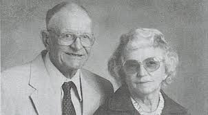 Sarah's long lost cousin, Ivan Morris, pictured with his wife Dorothy Morris