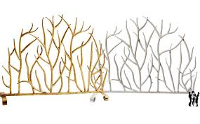 decorative twig fireplace screen