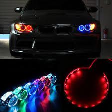 2pcs Red Led Lights Devil Eyes Demon Eye For Auto Headlight Projector Lens Rings Ebay