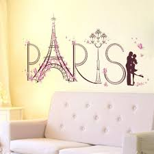 Us Paris Eiffel Tower Romantic Wall Stickers Vinyl Decal Mural Home Room Decors For Sale Online