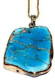 imperial blue natural stone necklace