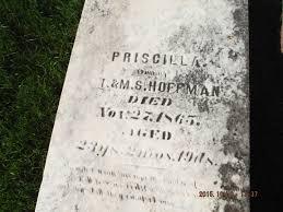 Priscilla Hoffman (1842 - 1865) - Genealogy