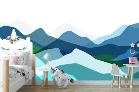 Mountain Mural Wall Decal Studiowalldecals