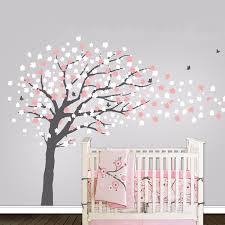 Nursery Tree Contemporary Cherry Blossom Tree Wall Decal With Birds Butterflies Mural Decoration Wall Stickers For Kids Rooms Tree Wall Decal Wall Decalssticker For Kids Room Aliexpress
