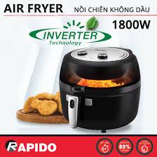 Nồi Chiên Không Dầu Rapido Inverter RAF6.5M2 (6.5L) 1800W - Chính hãng, bảo  hành 12 tháng - 2,145,000
