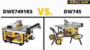 Dewalt Dwe7491rs Vs Dewalt Dw745 Table Saws 2021 Product Comparison The Best Scroll Saw Pro Reviews Buyer Guides Tips Tricks