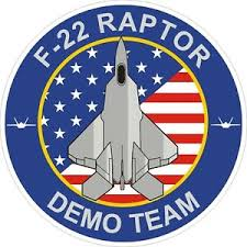 U S Air Force F 22 Raptor Demo Team Decal Sticker Ebay