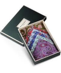handkerchief set paisley set of six