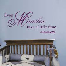 Cinderella Quotes Even Miracles Take A Little Time Baby Nursery Bedroom Vinyl Wall Decal 34 X 14 S Vinyl Wall Decals Wall Decalsbaby Nursery Aliexpress