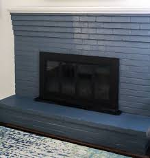 how to paint a brick fireplace the