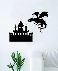 Castle Dragon Wall Decal Decor Art Sticker Vinyl Room Bedroom Teen Kid Boop Decals