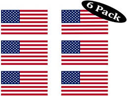 Pack Of 6 Usa Flag Stickers United States Work Hard Hat Biker Helmet Stickers Decals Toolbox 1 X 2 Amazon Com