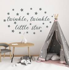 Quote Wall Decal Girl Room Decor Twinkle Little Star Decal Etsy