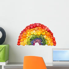 Fruit And Vegetable Rainbow Wall Decal By Wallmonkeys Peel And Stick Graphic 18 In W X 11 In H Wm123138 Walmart Com Walmart Com