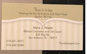 Myra Webb by There is Hope, Ministries in San Antonio, TX - Alignable
