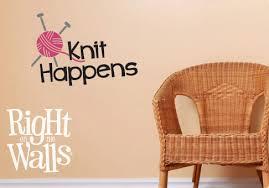 Knit Happens Crochet Wall Decals Vinyl Art Stickers