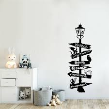 Harry Potter Star Wars Narnia Alice Wonderland Quote Wall Sticker Road Sign Poster Mural Vinyl Art Removable Decor W181 Wall Stickers Aliexpress