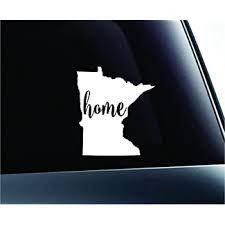 Amazon Com 3 Home Minnesota State Saint Paul Symbol Sticker Decal Car Truck Window Computer Laptop White Automotive
