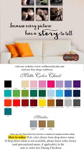 Family Wall Quotes Decal Because Every Picture Has A Story To Tell Picture Wall Decals Sayings Small Medium Large Modern Font