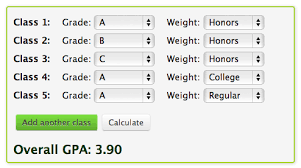 how to calculate weighted gpa