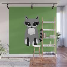 Raccoon Cute Animals Print For Kids Room Decor Boys And Girls Nursery Wall Mural By Charlottewinter Society6