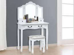 tri folding mirror set 2pcs white