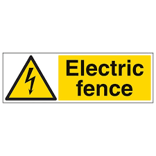 Electric Fence Landscape Caution Danger Safety Signs Safety Signs 4 Less