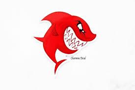 Laptop Sticker Shark Sticker Shark Cartoon Sticker