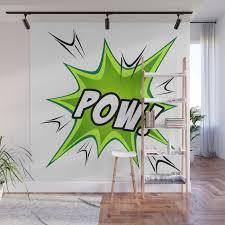 Manga Sound Effect Pow Wall Mural By Rauros Society6