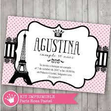 Kit Imprimible Paris Rosa Pastel Decora Tu Cumple