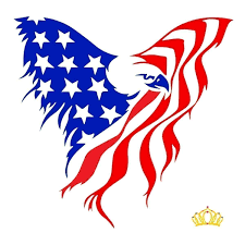 Amazon Com American Eagle Flag Vinyl Decal For Truck Cup Tumbler Or Laptop 3 25 Inches Handmade