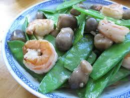 Stir Fried Snow Peas with Seafood ...