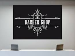 Vinyl Decal Wall Sticker Vintage Barber Shop Advertising Signboard Decor N867 Ebay