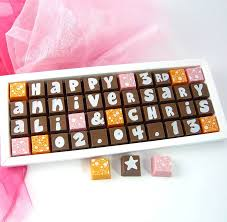 personalised anniversary chocolates by