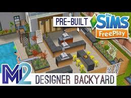 sims freeplay designer backyard house