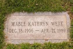 Mable Kathryn Byron Wert (1906-1989) - Find A Grave Memorial