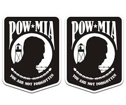 Find Pow Mia Decal Set 3 X2 2 Military Prisoner War Memorial Vinyl Sticker Pm1 U5ab Motorcycle In Sticker City Ca For Us 4 97