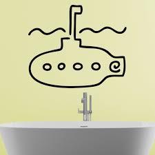 Submarine Bathroom Cartoon Wall Sticker Decal World Of Wall Stickers