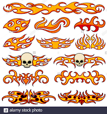 Vehicle Car And Bike Color Vinyl Decals Isolated Vector Set Hot Fire Decal Artwork Illustration Of Pattern Fire Stencil Stock Vector Image Art Alamy