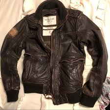 abercrombie jacket small leather for