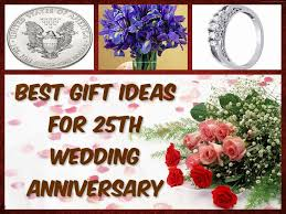gifts for a 25th wedding anniversary