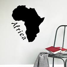Map Of Africa Art Decals Sticker For Car Window Decoration Africa Continent Mural Vinyl Wall Stickers Home Room Wall Art Decor Wall Stickers Aliexpress