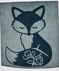 Fox Floral White Vinyl Decal Sticker New Gift In 2020 Vinyl Decals Fox Decal Vinyl Decal Stickers