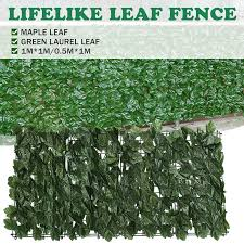 2 Size Artificial Fence Hedge Fake Vertical Garden Green Wall Ivy Mat Fence Artificial Plant Grass Lazada Ph